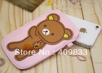 SELL-OFF PU leather pouch for Iphone 4/4S 4pcs/lot free shipping