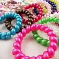 Wholesale Fashion 100pcs/lot King size High Elastic Telephone Line Hair Band / Headwear for women 2013 NEW