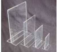 T Panel Acrylic  Sign Holders