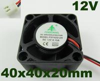 5pcs Brushless DC Cooling Fan 5 Blades DC 12V 40mm x 40mmx20mm 4020 2 Pin