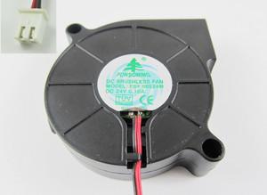10pcs Brushless DC Cooling Blower Fan 5015 FSY50S24M DC 24V 50x50x15mm 2 Pin