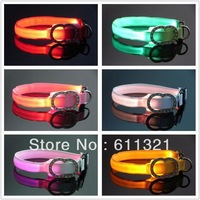 Fashion 8 colors Glow LED Cat Dog collars Pet Flashing Light Up Safety Collar 18-28cm #3773