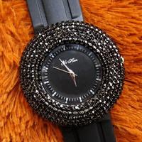Free Ship Wholesale discount Hour Fashion Women's and Ladies wrist quartz watches with black Diamond Shiny Crystal Rhinestones