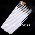 Wholesale - Brand New 15pcs/set Nail Art Design Brushes Set Painting Pen Polish Tips