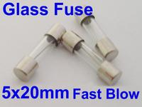 100Pcs Glass Fuse 5 x 20mm 0. 5A 0 5AMPS 250V Quick Fast Blow