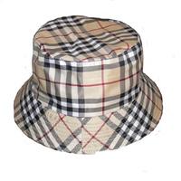 Male women's hat advertising cap sunbonnet bucket hat travel cap double faced khaki check