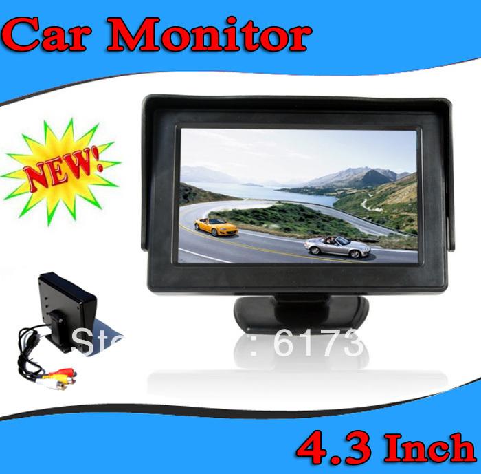 4.3 Inch TFT LCD Car Monitor for Backup camera Car Night Vision IR Rear Camera Car Review System 5pcs(China (Mainland))