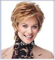 women's Natural light brown short hair wig synthesis wigs Factory Price free shipping