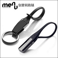 Hot New Black Titanium Keychain Gift Car Key ring Key Chain Lover Design Aftermarket Auto Parts Free shipping