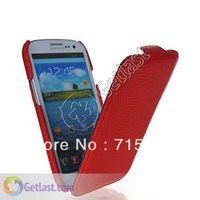 SNAKE SKIN FLIP LEATHER HARD BACK CASE COVER FOR SAMSUNG GALAXY S 3 I9300 S III RED