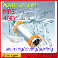 Free shipping Nu Dolphin 4GB water resistance IPX8 MP3 for swimming/diving/surfig with gift box, waterproof earplugs & arm band