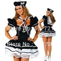 Free Shipping ML5239 Short Sleeves Fancy Dress Costumes For Women Halloween Sweetie Ladies Navy Uniform Sailor Adult Cosplay
