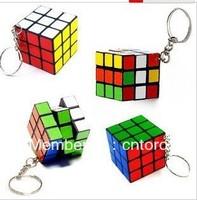 Free shipping Mini Magic Cube Puzzle magic Square Keychain key ring gift dropship