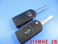 1pc/lot Brand New 2 button mazda remote flip key 315MHZ,folding remote key for Mazda,Mazda complete car remote flip blank keys