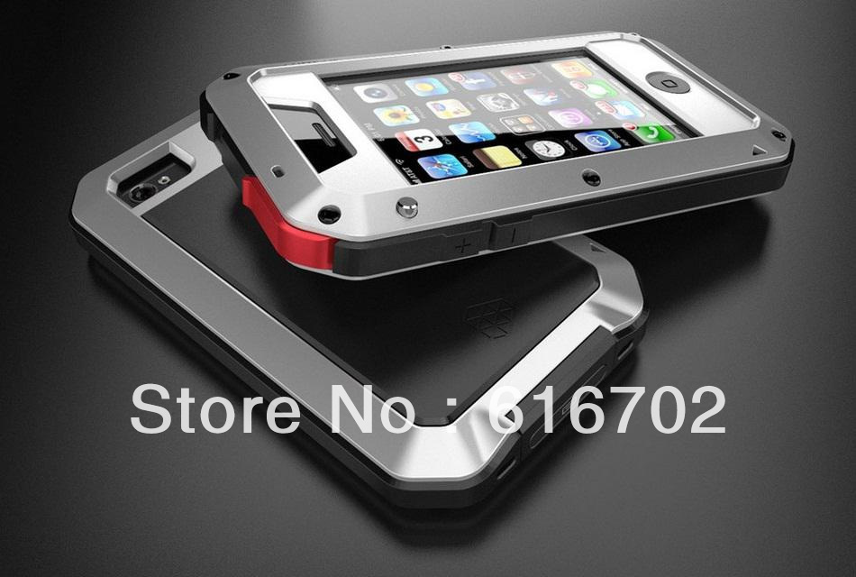 new comming LUNATIK TAKTIK case with aluminium frame +silicon +gorilla glass for iphone 5 free shipping DHL 10PCS/LOT(China (Mainland))