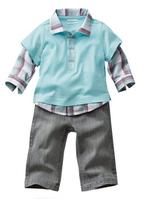 boy spring autumn clothing set long sleeve t-shirt +jeans pants sets  casual clothes children kid's sets suits fashion gentleman