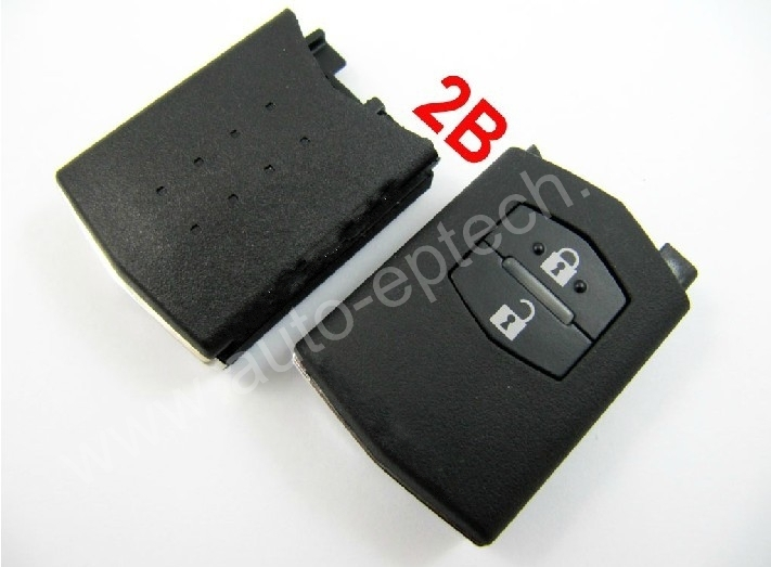 30pcs/lot Brand New 2 button mazda auto remote key shell cover replacement,car remote control key fob case casing for Mazda(China (Mainland))