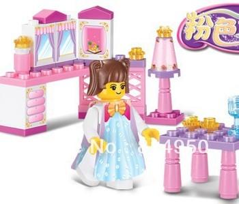 Sluban M38-B0238  Princess's Room  Assembly Model Building Blocks Sets&Kits,Children's Educational Toys,Kids Gift,