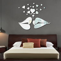 Ofhead tv wall crystal three-dimensional mirror wall stickers