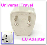 Free shiiping, 3 pcs Universal AU US UK to EU Travel Plug Adapter Adaptor, EA105