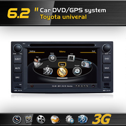 A8 1GMHZ CPU,DDR2 512M,Virtual 20 CD,4G memory,3G internet,Car DVD GPS for Toyota univeral,Support Rearview Camera,DVR,2 Tuners(China (Mainland))