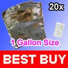 20 Mylar 1 Gallon FOIL Food Storage Bags 26x40cm + 20 300cc O2 Oxygen Absorbers