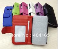 30pcs x For Samsung Galaxy S3 Mini i8190 PU Leather ID Card Slot Wallet Case