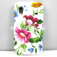 For Samsung Galaxy Ace S5830 1 X Red Elegant Peony/Blue TPU Gel Case For Samsung Galaxy Ace S5830 S5830i 5830 Case