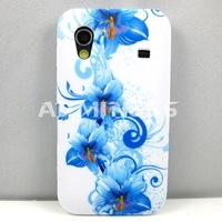 For Samsung Galaxy Ace S5830 Blue Hibiscus Flower Romance TPU GEL Soft Case For Samsung Galaxy Ace S5830 S5830i 5830 Case