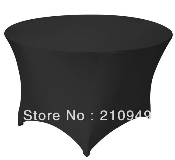 Free Shipping 30pcs 4 ft. Round Stretch Table cover spandex table covers tablecloth waterproof(China (Mainland))