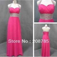 2012  free shipping  FOLD Beaded Anke length Bridesmaid Dresses Party Dresses Celebrity Dresses Chiffon