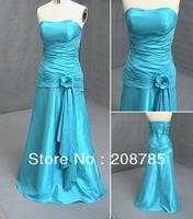2012  free shipping  FOLD Beaded Anke length Bridesmaid Dresses Party Dresses Celebrity Dresses Taffeta
