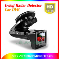 Newest   HD 1080p Car DVR Camera Recorder  with E-dog Radar Detector G-sensor Car Black Box Camera Radar Detection edog