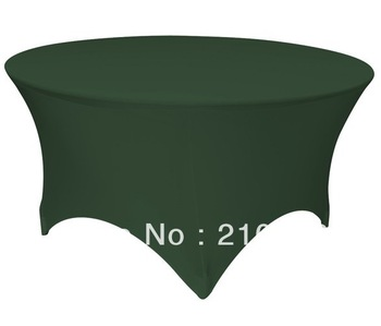 Free Shipping 30pcs 5 ft. Round Stretch Table cover spandex table covers wedding linens for sale