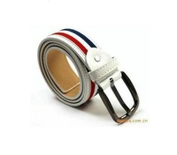 Free Shipping, We Best, 2013 New Design Men's Belt ,Unisex Classic Fashion Durable Canvas Stripe Belts, Drop Shipping, PYP005