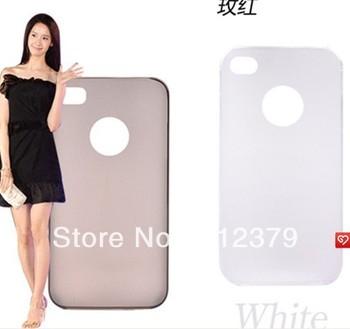 Hot selling-- Ultra-thin phone 4S plastic case black white blue green pink yellow orange red purple 100pcs/lot