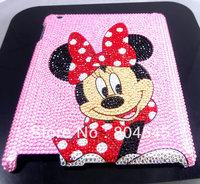 Rhinestone  Diamond Crystal Bling Mickey Minne Hard Back Case Cover For iPad mini