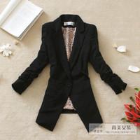 2012 spring women's outerwear vintage slim waist three quarter sleeve shoulder pads blazer