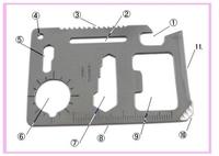EMS,DHL FREE SHIPPING,200 pcs/lot pocket camping knife,11 in 1 camping tool