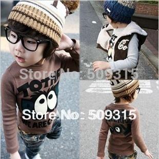 2014 HOT Baby T shirt big eyes Baby's T-shirts boy girl's long sleeves child t-shirt 4pcs/lot free shipping