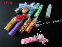 Freeshipping- 12 Color 3D Nail Art decoration Caviar Bottle Set Dropshipping KQH030 mix design