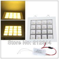 Wholesale - 3pcs/lot 16W 1500 Lumen Warm White Light LED Panel Light (110-220V, 3000-3500K)