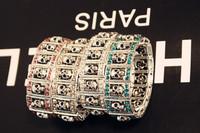 Free Shipping 15pcs/ lot new Arrivals 4 colors skeleton cuff bangles skull bracelet jewelry bangle