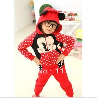 Free Shipping red fight black loose -type cotton sweater fleece children's clothing wholesale