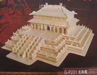Handmade wooden assembly model yakuchinone 3d puzzle model free shipping