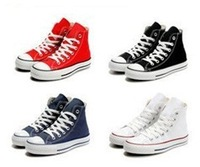 New Arrival branded chuck  canvas shoes unisex tall style sneakers 10 colors EU35-44 retail/wholesale free shipping