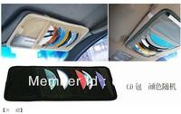 Free shipping auto Car Sun Visor 12 CD Storage holder Organizer Bag Car sunshine protector dropship