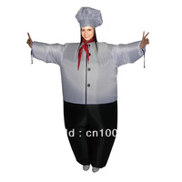 Free Shipping Chef Inflatable Costume / Adult Fancy Dress Suit Party costume game chef cloth