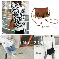 Free Shipping !!! Hot Sale Korean Style Fashion Fringe Tassel Cross Body Bag Messenger Shoulder Bags