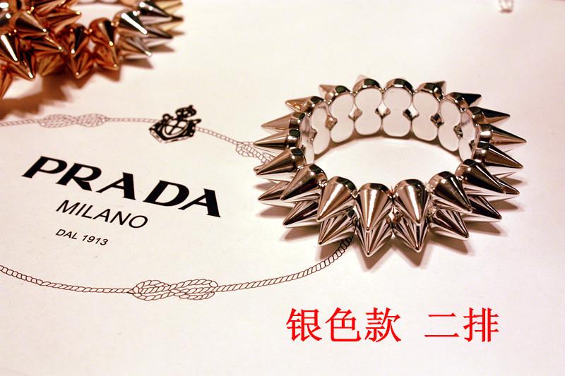 10 pieces/lot 3 color Punk rock spike bracelet jewelry gothic pyramid stud bangles stretch bracelet